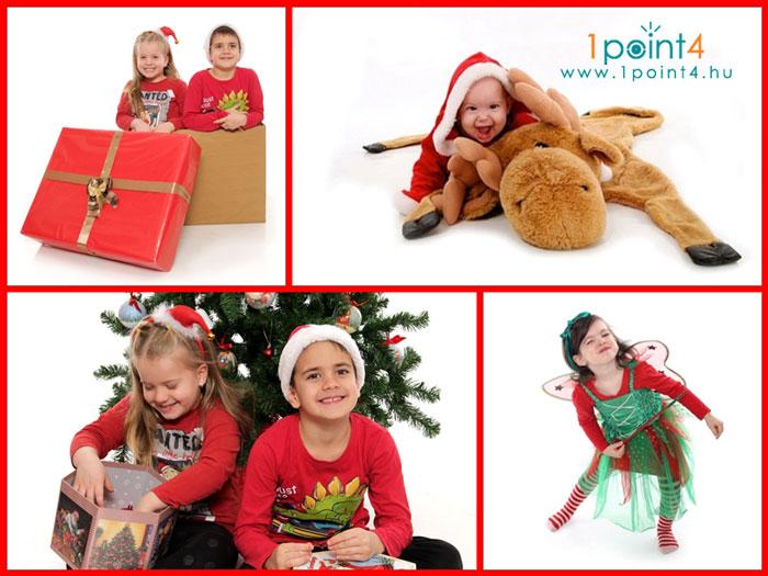 karácsony családi fotózás